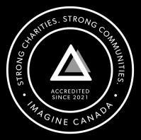 Imagine Canada Trustmark. Accredited since 2021. Strong charities, strong communities.