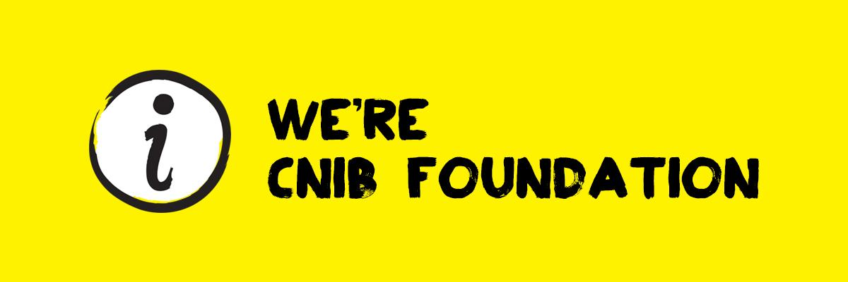 "We're CNIB Foundation - circle with the letter ""i"" icon"