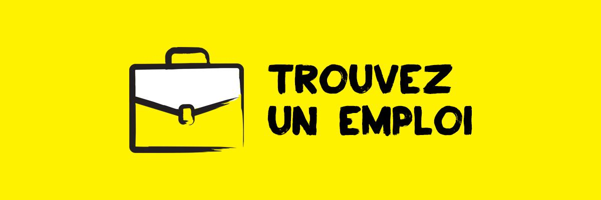 Icône d'un porte-documents portant la mention « Trouver un emploi »