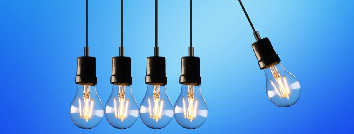 Photo of lightbulbs